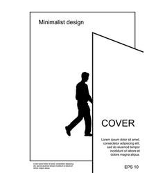 a4 minimal black and white design postcard flyer vector image