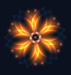 abstract glowing light flower symbol of life and vector image