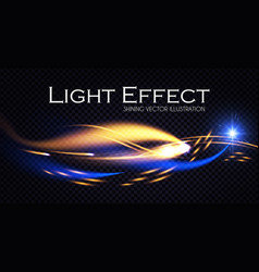 abstract motion light effect shining background vector image