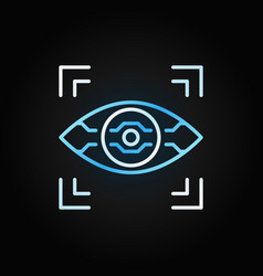 Ai eye linear colored icon on dark vector