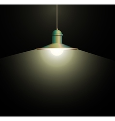 Ancient bronze lamp hanging Big and empty space vector image
