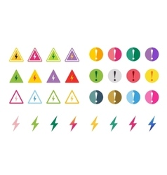 Attention warning sign icons set vector image