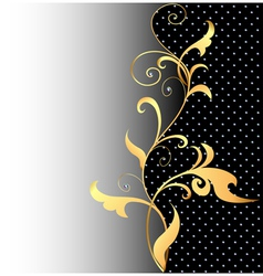 background with ornaments of gold vector image vector image