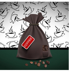 bag of coffee vector image