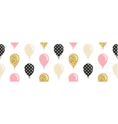 Balloons seamless pattern background for birthday vector