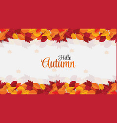 Beautiful autumn write background with typography vector
