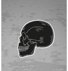 Black skull vector