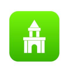 blocks toy icon digital green vector image