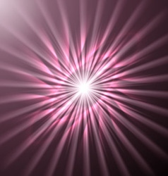 Bright space star in pink hues vector image