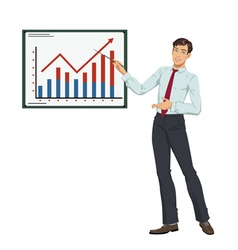 Businessman showing presentation vector image
