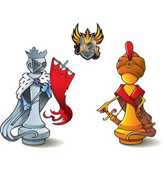 chess set kings vector image vector image