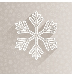 Christmas background with one big snowflake vector