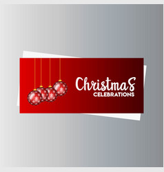 christmas banner with elegant decoration vector image