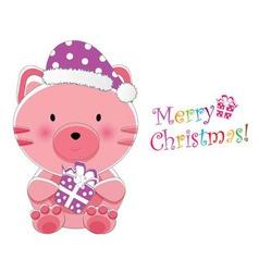 christmas children card vector image