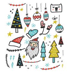 Christmas toys design vector