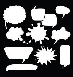 comic bubble speech balloons speech cartoon 113 vector image