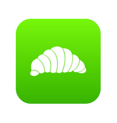 croissant icon digital green vector image