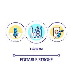 Crude oil concept icon vector