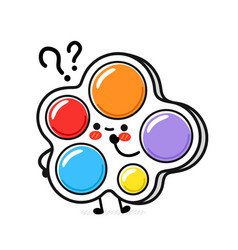 Cute funny simple dimple with question mark vector