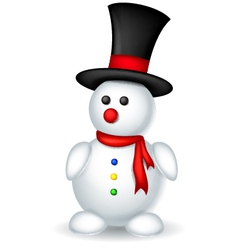 Cute snowman cartoon for you design vector
