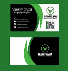 dark and green color business card image vector image