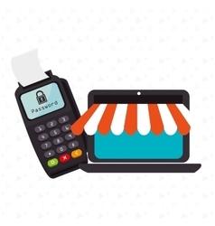 Dataphone password money secure vector