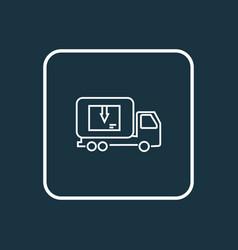 delivery truck icon line symbol premium quality vector image