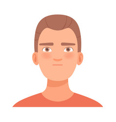 Determined young guy in vector