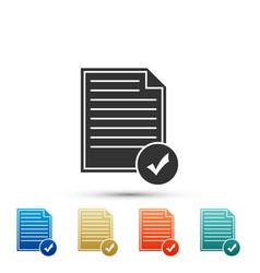 document and check mark icon checklist icon vector image