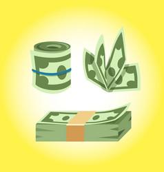 Dollar paper business finance money stack vector