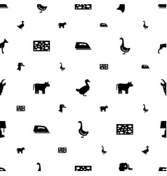 Domestic icons pattern seamless white background vector