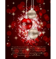 Elegant Christmas Tree card vector image