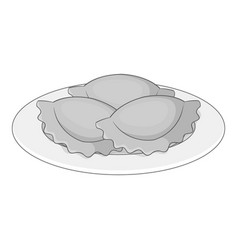 Empanadas meat pie icon monochrome vector