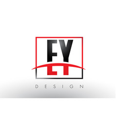 ey e y logo letters with red and black colors and vector image