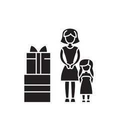 family gifts black concept icon family vector image