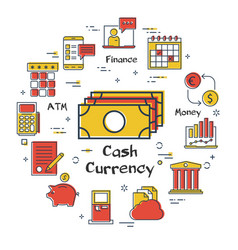 finance and banking concept - cash currency vector image