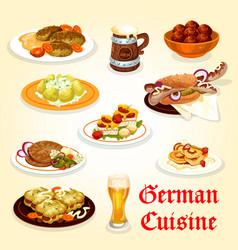 german cuisine icon for oktoberfest menu design vector image