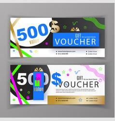 Gift voucher template universal flyer for vector