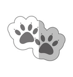 grayscale silhouette middle shadow sticker with vector image