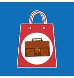 Hand holds bag gift portfolio design vector