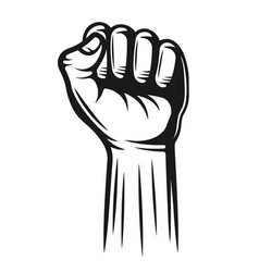 Hand with fingers folded into a fist pointing up vector
