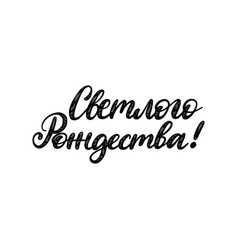 handwritten phrase translated from russian bright vector image