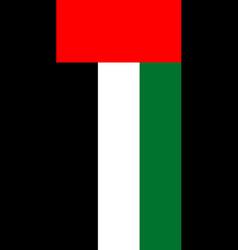 Hanging vertical flag vector
