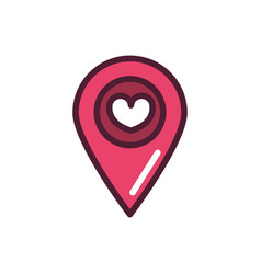 happy valentines day pointer location heart love vector image