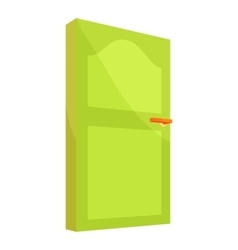 Interior door icon cartoon style vector