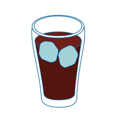 Isolated cold coke drink vector