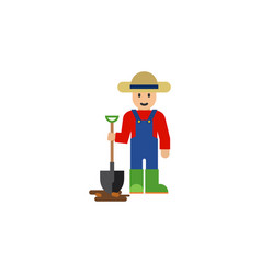 isolated farmer flat icon man element can vector image