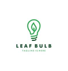 leaf bulb eco idea logo design design concept vector image