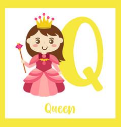 Letter q vocabulary queen vector