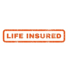 Life Insured Rubber Stamp vector image vector image